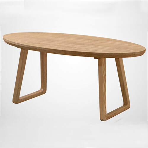 Wood Oval Coffee Table Made In China: Solid Wood Oval Coffee Table